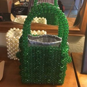 Green Sequin Handbag